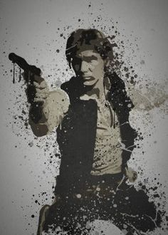 """Scruffy looking nerf herder"" Splatter effect artwork inspired by Han Solo From The Star Wars movies"