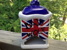 Doctor Who Bad Wolf tea bag dispenser by HandPaintedNerd on Etsy