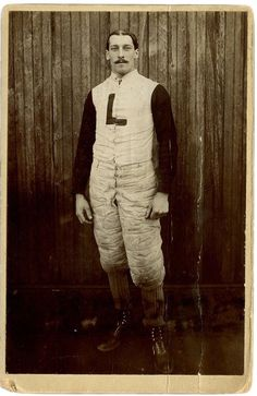 Monsieur L - Portrait of a Football Player taken in Lakewood, New Jersey - late 1800s --- via victoriasrustyknickers.tumblr.com