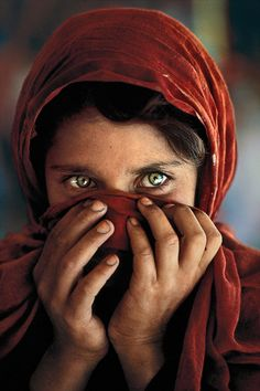 Available for sale from GALLERY FIFTY ONE, Steve McCurry, Afghan girl hiding face Fujicolor crystal archive print, 50 × 60 cm Anne Gedes, Girl Hiding Face, Hands On Face, Afghan Girl, Girl Posters, Best Beauty Tips, Women's Beauty, Beauty Flash, Juice Beauty