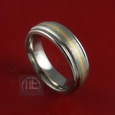 Yellow Gold and Titanium Ring Custom Made by StonebrookJewelry, $124.92