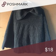 LIMITED TIME AVAILABILITY: Gap Knit Poncho Cozy knitted gray poncho. Warm and cuddly with stylish zipper. Tag says XS, but really one size fits all. AVAILABLE TIL 11/29/16 GAP Sweaters Shrugs & Ponchos