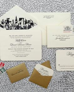 New York City wedding invites! I wouldn't do NYC but a skyline would be cool