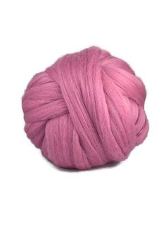 Merino wool roving 19 microns ,Color: Orchid