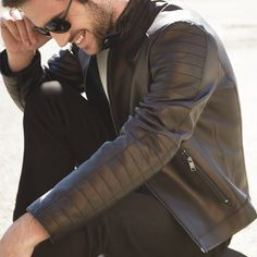 There's no quicker one-way ticket to cool than a leather motorcycle jacket.