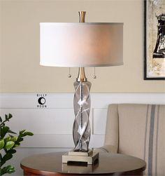 Uttermost Spirano Gray Glass Table Lamp (26634-1)