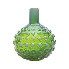 Emerald Hobnail Vase: could recreate this with glue or sticky dots and then paint over with glass paint