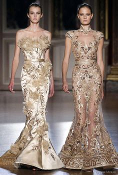 Golden goddesses.