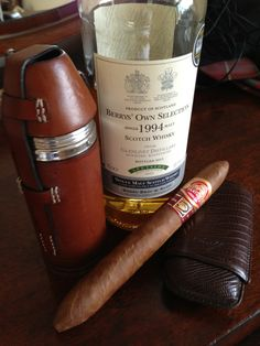 Berry's Single Malt Scotch Whisky and Partagas Cuban Cigar