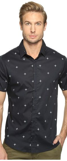 7 Diamonds Mind of Mine Short Sleeve Shirt (Navy) Men's Short Sleeve Button Up - 7 Diamonds, Mind of Mine Short Sleeve Shirt, SMK-5783-410, Apparel Top Short Sleeve Button Up, Short Sleeve Button Up, Top, Apparel, Clothes Clothing, Gift - Outfit Ideas And Street Style 2017