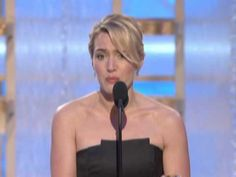 Kate Winslet Wins Best Actress Motion Picture Drama - Golden Globes 2009, via YouTube. this is great