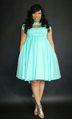 Beautifully crafted clothing featuring custom fabrics, vibrant colors and bold designs that will be amazing for any occasion! Girl With Curves, Plus Size Beauty, Custom Fabric, Vibrant Colors, High Neck Dress, Plus Fashion, Clothes, Dresses, Design