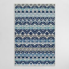 Featuring a bright design in a refreshing color palette, our easy-care area rug is antimicrobial, stain-resistant and suitable for any space indoors or out.