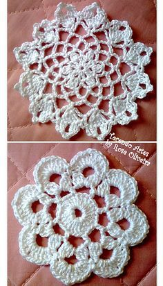 Several small doilies on this site Charts, in portuguese Crochet Circles, Crochet Motifs, Crochet Cross, Crochet Art, Crochet Round, Crochet Squares, Thread Crochet, Love Crochet, Crochet Doilies