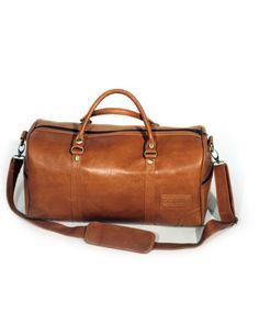 Weekendväska i läder - Ljusbrun » Bagasi - handgjorda läderväskor