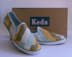Keds Glitter Slip On Sneakers Striped Shoe CH Razor Women US 9.5 Eur 40.5 UK 7.0 #Keds #Comfort