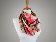 Rose Print Infinity Scarf from maxandrosie.co.uk