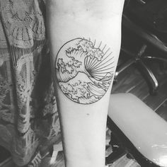 My great wave tattoo