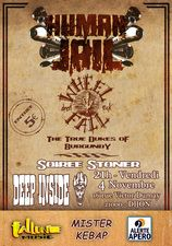 04/11/11 HUMAN JAIL / WHEELFALL / THE TRUE DUKES OF BURGUNDY