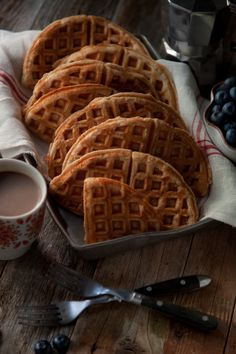Buttermilk Waffles & Blueberries  © Shannon Douglas Photography