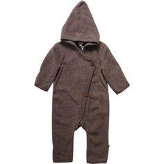 Overall bebelusi din lana merinos fleece, Müsli - Walnut Muesli, Green Cotton, Overalls, Raincoat, Jackets, Collection, Fashion, Rain Gear, Down Jackets