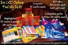 $10 Back-to-School Challenge {Operation Christmas Child}