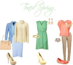 """Toned spring looks"" by sabira-amira on Polyvore"