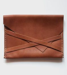 Leather Envelope Clutch by Sissipahaw Leather Co. - just plain gorgeous