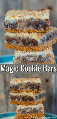 Is anything more classic than delicious Magic Cookie Bars? These condensed milk and chocolate coconut layer bars are so easy to make and are always a crowd favorite! #magicbars #7layerbars