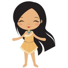 """Smile"", by Linda Lima Kawaii Disney, Princess Pocahontas, Disney Princess Babies, Cute Princess, Disney Clipart, Cute Clipart, Girl Clipart, Cartoon Cartoon, Disney Images"