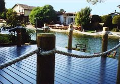 Deck on the Lake--- instead of railing use rope