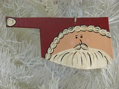 Oklahoma Santa Ornament by designsbyangie on Etsy