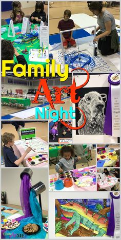 Art Festival and Family Art Night- How to run a Family Art Night. Increase attendance and promote your art department with engaging art activities.