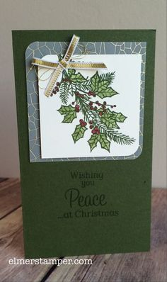 A simple, homemade card using the Embellished Ornaments stamp set from #stampinup by Kristin Kortonick