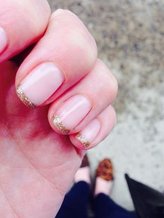 My new glitter French manicure