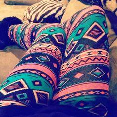 Ladies Cute Aztec Legging | Follow @Leigh2527