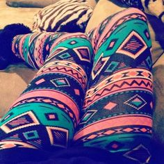 Ladies Cute Aztec Legging | Follow @Leigh2527