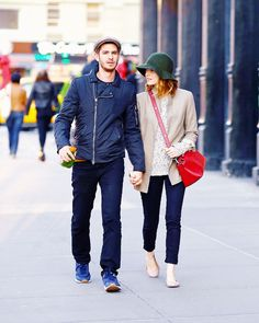 Emma Stone and Andrew Garfield out and about in NY, May 18th 2014
