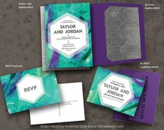 JORDAN Abstract Art Invitation Suite Printables by weddingchimes