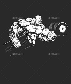 Buy Bodybuilder with Dumbbells by on GraphicRiver. Vector graphics Install any size without loss of quality. ZIP archive contains: 1 -file 1 -file PNG; 1 -file P. Dojo, Bodybuilding Logo, Bodybuilding Pictures, Graffiti, Gyms Near Me, Sports Graphic Design, Gym Logo, Photoshop Design, Diy Canvas