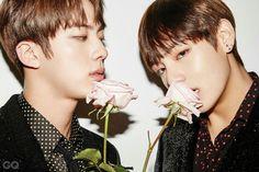 Jin and V ❤ BTS for GQ Korea Magazine December Issue 'Men of the Year' #BTS #방탄소년단