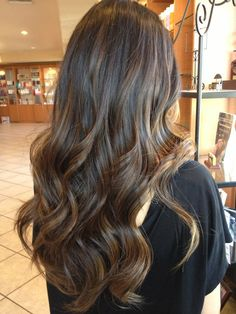 Very natural balayage highlights !
