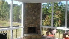 "Enclosed Porch with fireplace from ""Enclosed Sun Porches"""