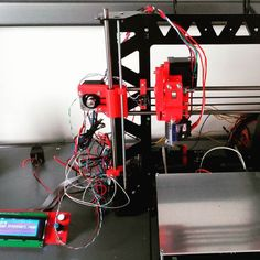 Something we liked from Instagram! It is alive! #wakeup #3dprinter #diy #P3Steel #makersgonnamake. #blackandred ready for #testing all the #electronics. No smoke so far :) Clearly some cable management needed as well by antti_t_ check us out: http://bit.ly/1KyLetq