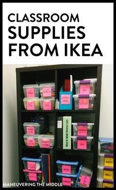 MustHave Classroom Supplies from Ikea is part of Classroom Organization Supplies - Add these classroom supplies from Ikea to your shopping list! Get your classroom organized and decorated for this school year with this helpful list Classroom Hacks, Middle School Classroom, Classroom Setup, Classroom Design, Classroom Activities, Disney Classroom, Classroom Displays, Future Classroom, Teacher Supplies
