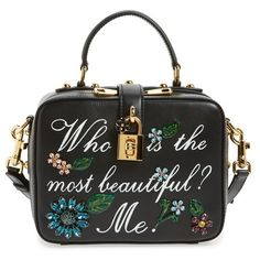81d1a8cd3dc2 Dolce Gabanna  Small - Most Beautiful  Crystal Flower Embellished Leather  Handbag