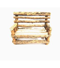 Add a charming touch to your miniature village or garden with the Bloom Room Littles Fairy Garden Birch Bench. This lovely miniature decor accent features a birchwood bench that looks weathered and re