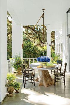 Breezy Porches and Patios. Coastal Entertaining Porch