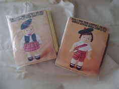 Campbell's Soup Doll Kit Boy and Girl in Kilts by HapevilleVintage
