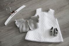 For my lil chocolat Knitting For Kids, Crochet For Kids, Baby Knitting, Crochet Baby, My Little Baby, Baby Kind, Little Girl Dresses, Girls Dresses, Knitted Baby Clothes